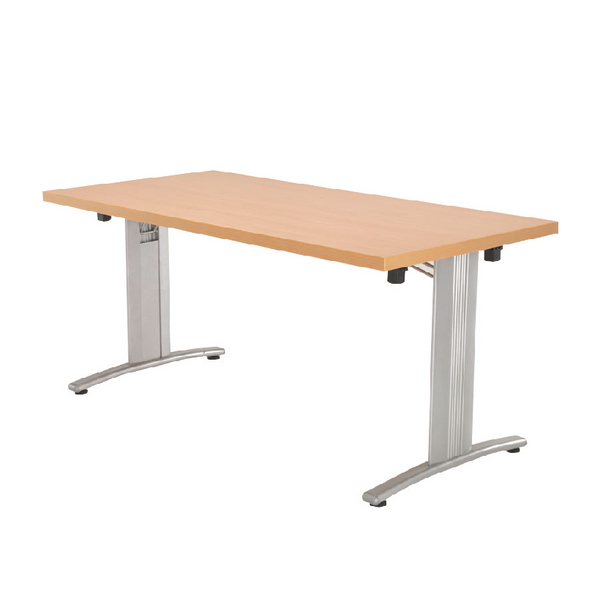 Arista Beech Lightweight Folding Rectangular Conference Table 1600x800mm KF71396