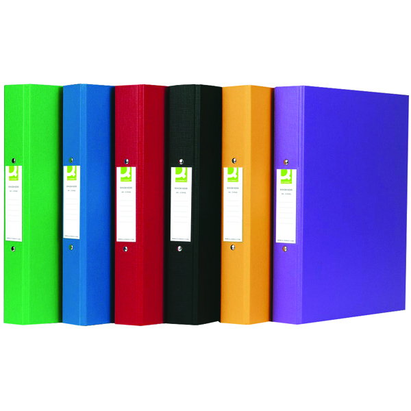 Q-Connect 2 Ring Polypropylene Assorted A4 Binder (Pack of 10) KF71446