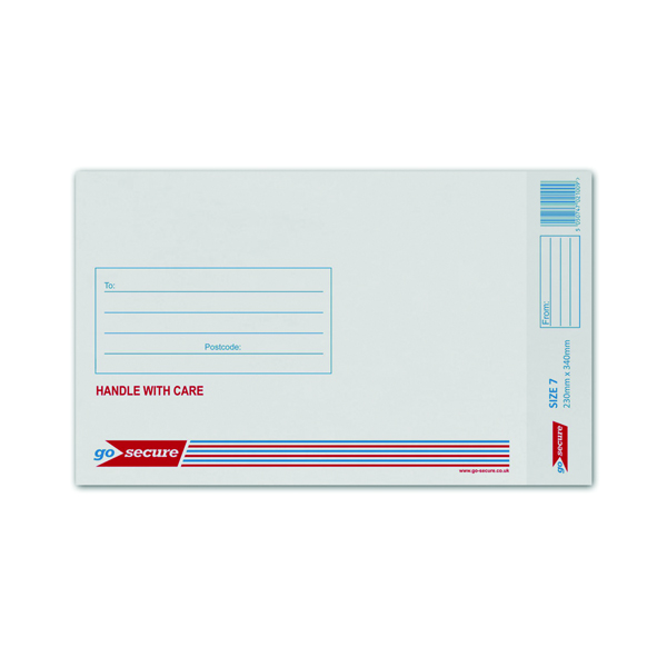 Q-Connect Bubble Lined Envelope Size 7 230x340mm White (Pack of 50) KF71451