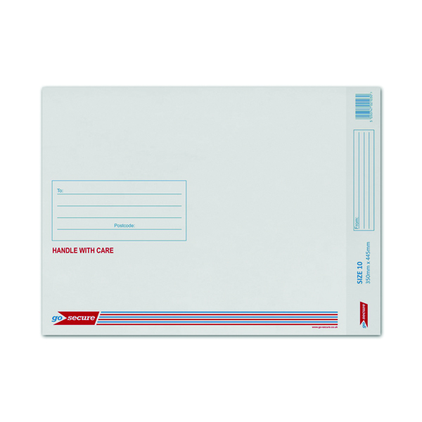 Q-Connect Bubble Lined Envelope Size 10 350x470mm White (Pack of 50) KF71453