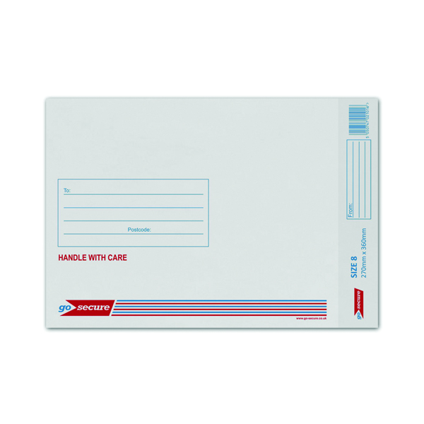 Q-Connect Size 8 270x360mm White Bubble Lined Envelope (Pack of 50) KF71454
