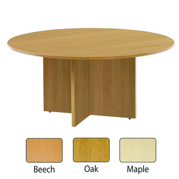 FF Jemini Round Meeting Table Maple
