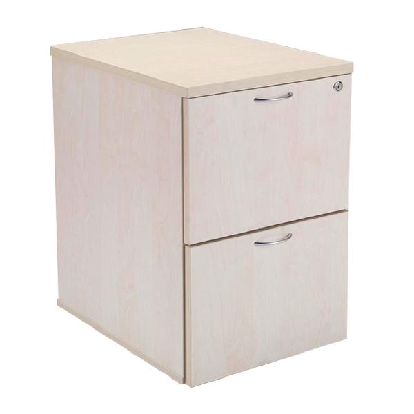 Jemini 2 Drawer Maple Filing Cabinet