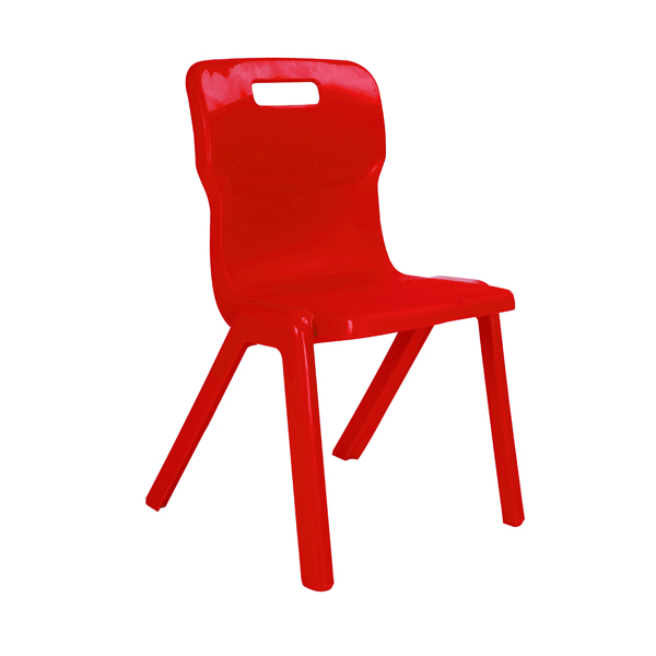 Titan Size 4 Red One Piece School Chair KF72164