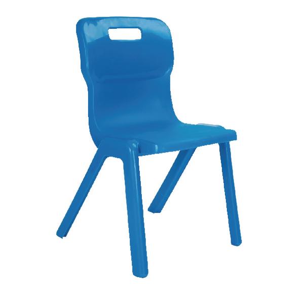 Titan Blue Size 4 One Piece School Chair KF72165