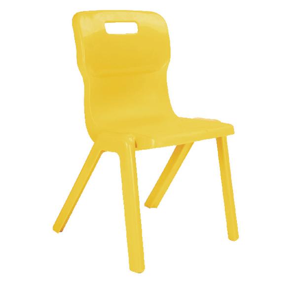 Titan Yellow Size 5 One Piece School Chair