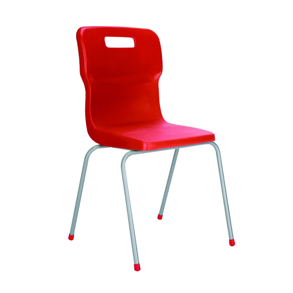 Titan Red Size 3 School Chair With 4 Legs KF72179
