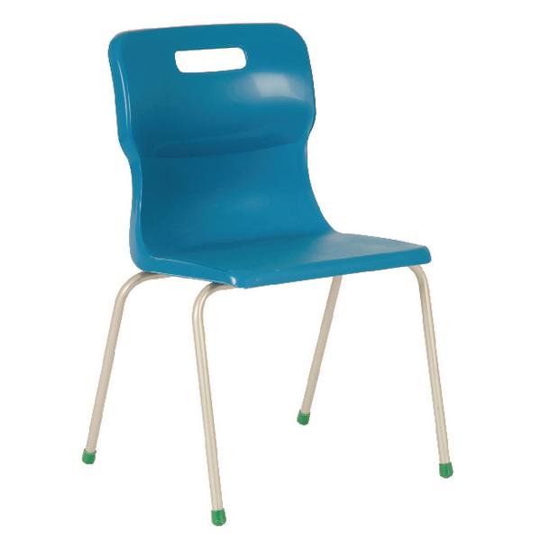 Titan Blue Size 4 School Chair With 4 Legs KF72185
