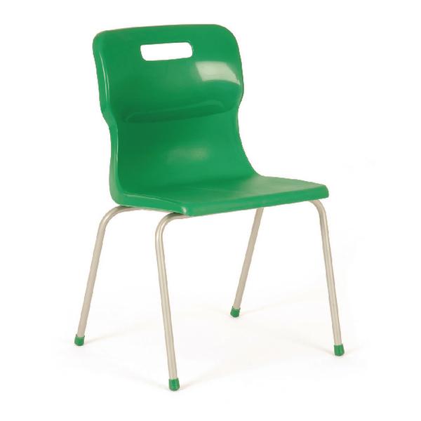 Titan Green Size 4 School Chair With 4 Legs