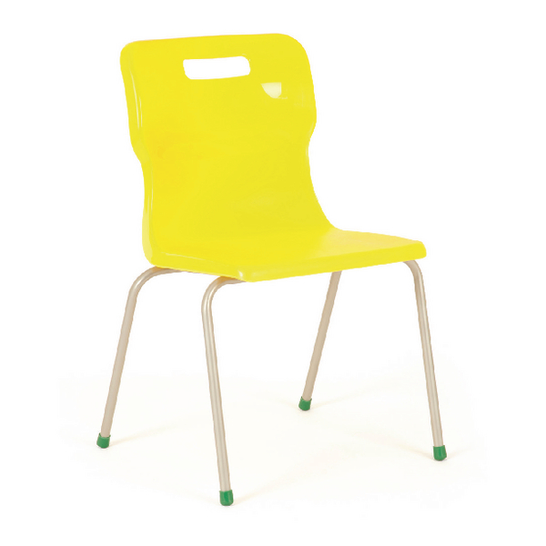 Titan Yellow Size 4 School Chair With 4 Legs