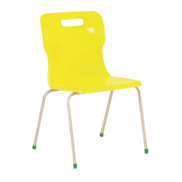 Titan Yellow Size 6 School Chair With 4 Legs KF72198