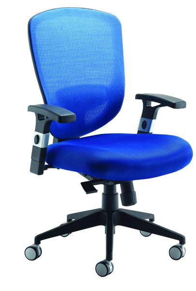 Arista Mesh High Back Task Blue Chair