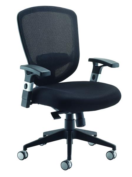 Arista Mesh High Back Task Black Chair