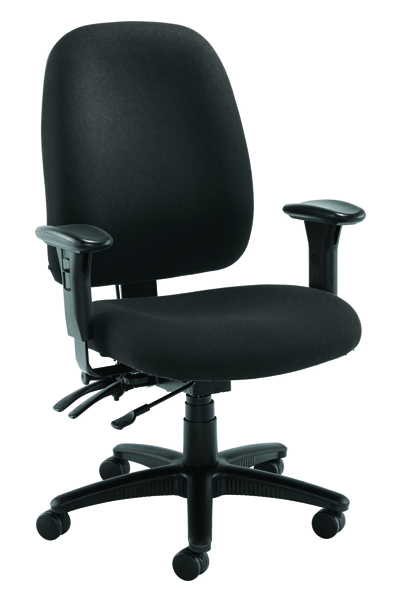 Avior Snowdon Heavy Duty High Back Charcoal Chair With Lumbar Support