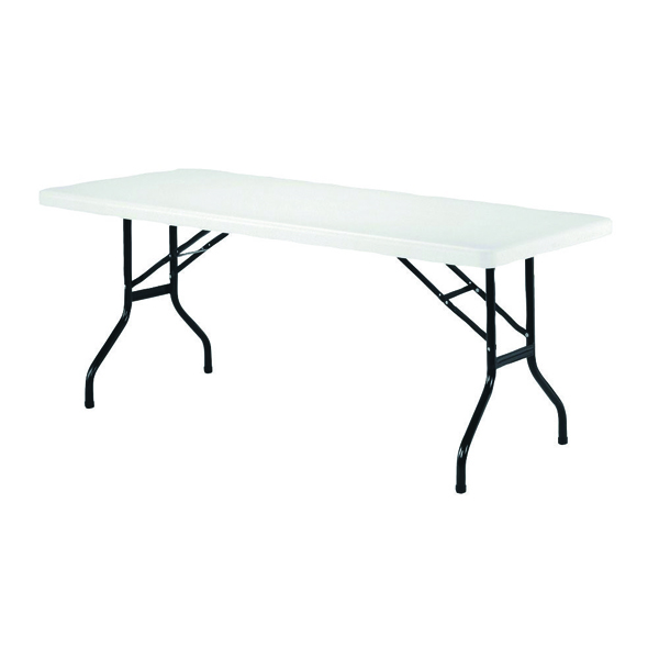Image for Jemini 1220mm Folding Rectangular Table White
