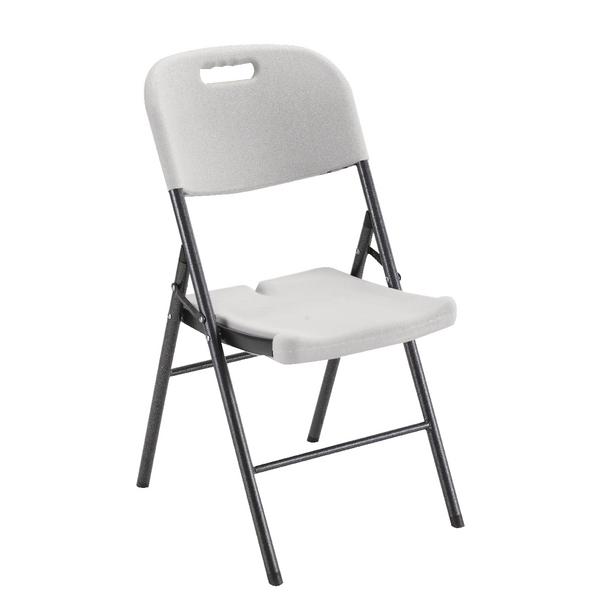 Jemini Folding Chair White Floor Standing Screen Including Feet KF72332