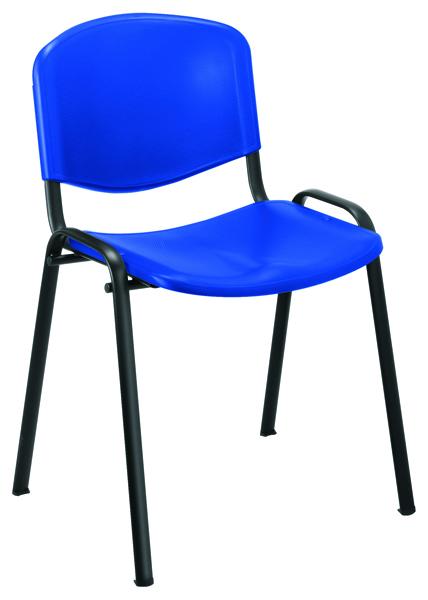 Jemini Multipurpose Polypropylene Stacking Blue Chair