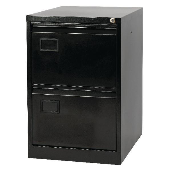 FF Jemini 2 Drw Filing Cabinet Black