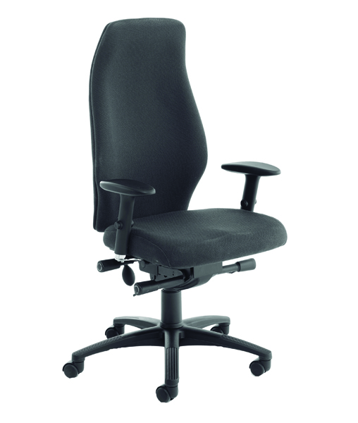Avior Black Super Deluxe Extra High Back Posture Chair