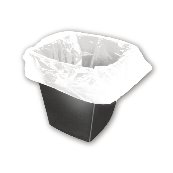 White Square Bin Liners 30 Litres (Pack of 1000) KF73380