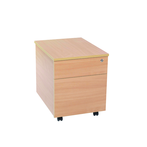 Image for Jemini 2 Drawer Bavarian Beech Mobile Pedestal