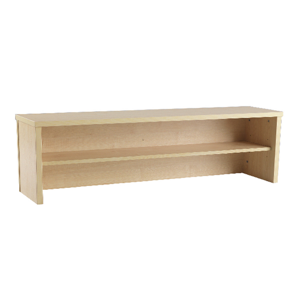 Jemini Intro 1600mm Reception Desk Riser Warm Maple