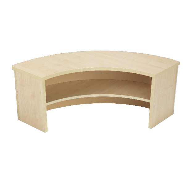 Jemini Intro 90 Degree Corner Desk Riser Warm Maple