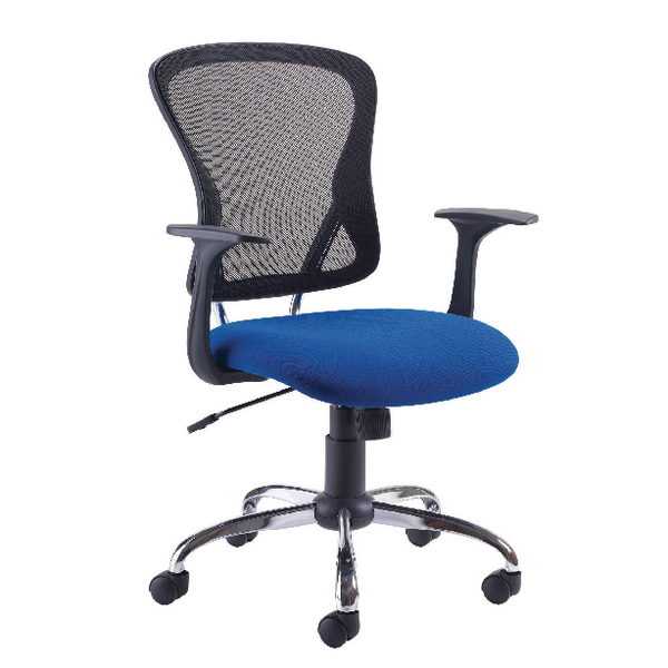 Arista Contemporary Mesh Blue Chair and Black