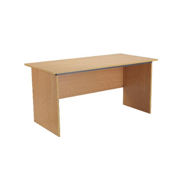 Jemini Intro Bavarian Beech Panel End Desk 1500mm