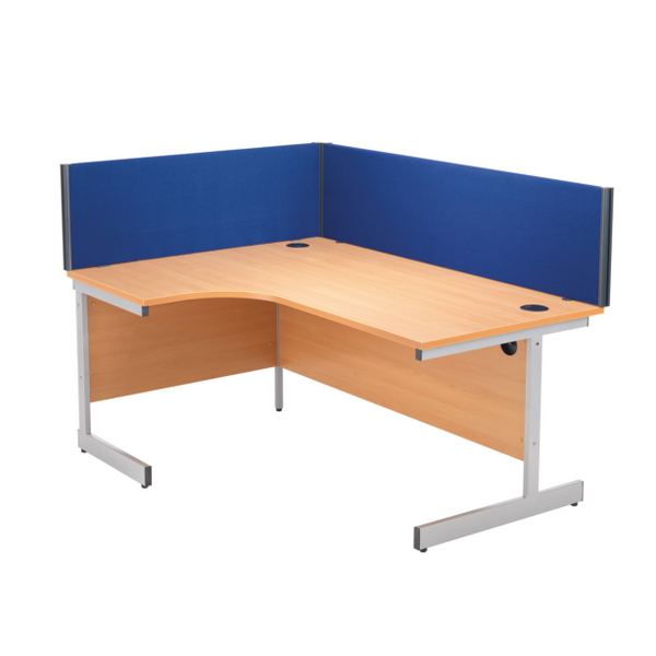Jemini 1600mm Blue Straight Desk Screen