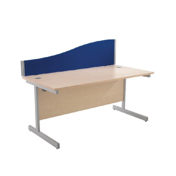 Jemini Wave 800mm Blue Desk Screen