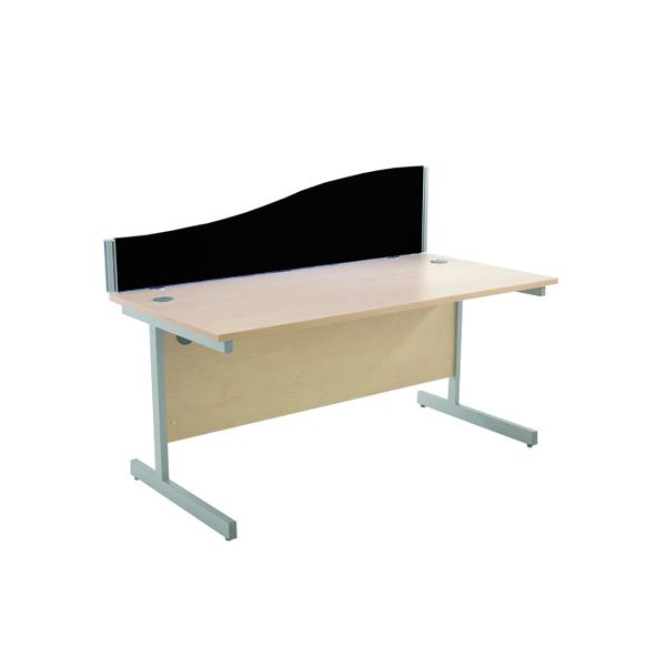 Jemini Wave 1600mm Black Desk Screen