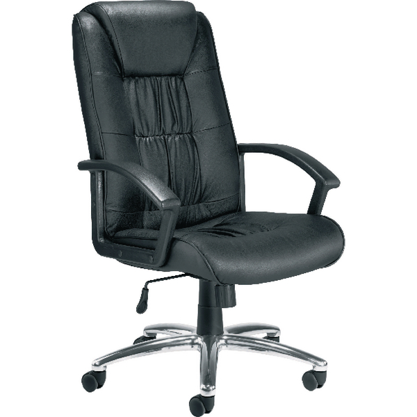 Jemini Tiber Leather Faced Executive Black Chair