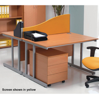 Jemini Wave 1500mm Blue Desk Screen