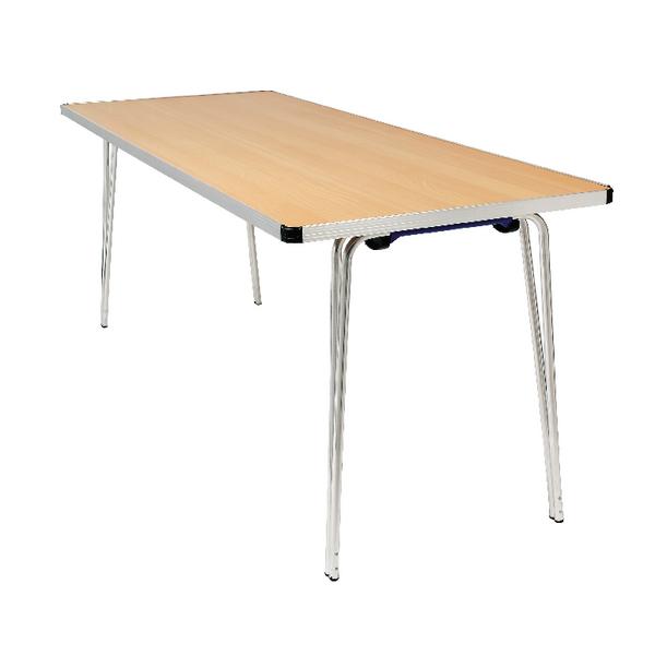 Jemini Oak W1220xD685xH698mm Folding Table KF74023
