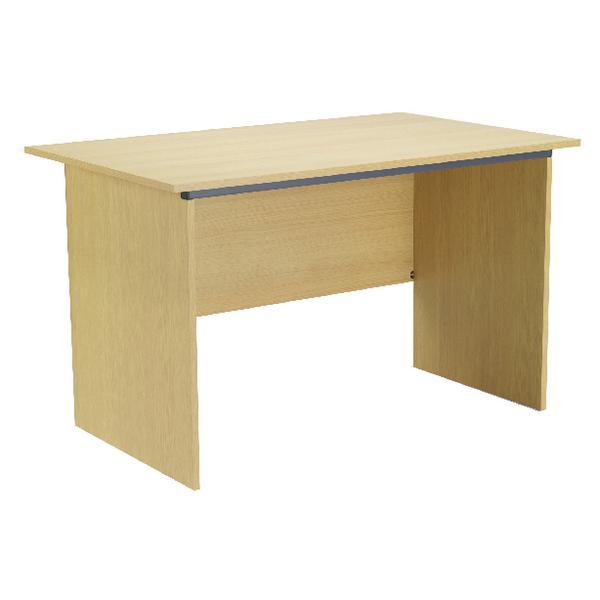 Image for Jemini Intro 1000mm Ferrera Oak Panel End Desk