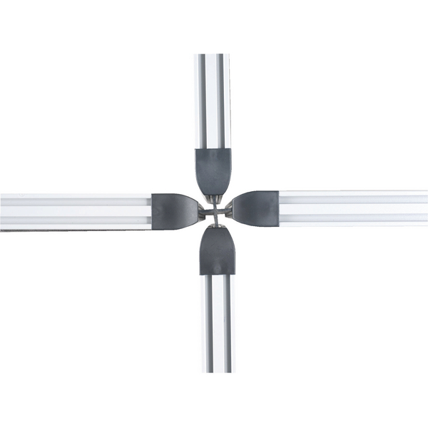 4 Way 1200mm Rigid Linking Strip Floorstanding