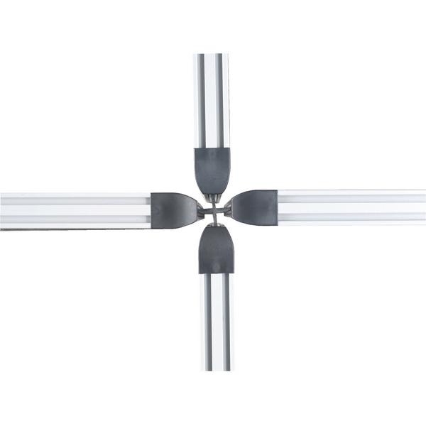 4 Way 1600mm Rigid Linking Strip Floorstanding