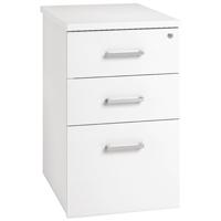 Image for Arista Desk High Pedestal Three Drawer 600mm White