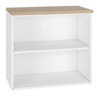 Image for Arista Desk High Bookcase Single Shelf Oak