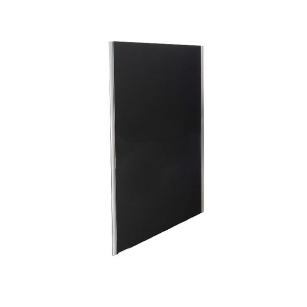 Jemini 1800x800 Black Floor Standing Screen Including Feet KF74335