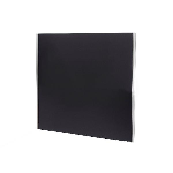 Jemini 1800x1600 Black Floor Standing Screen Including Feet