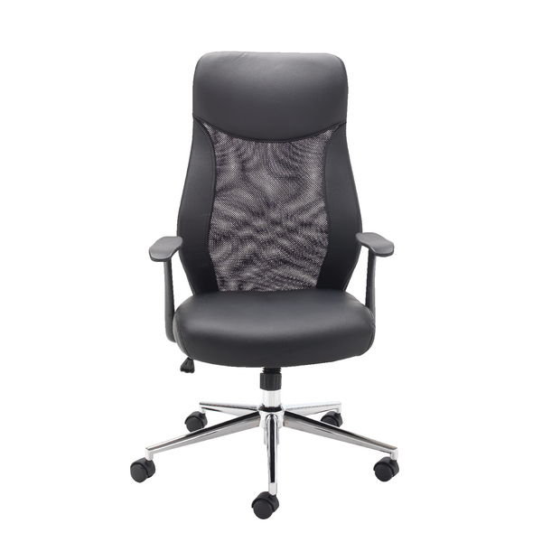 Jemini Mesh High Back Operator Black Chair