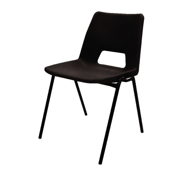 Image for Jemini Polypropylene Stacking Black Chair