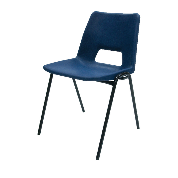 Image for Jemini Polypropylene Stacking Blue Chair