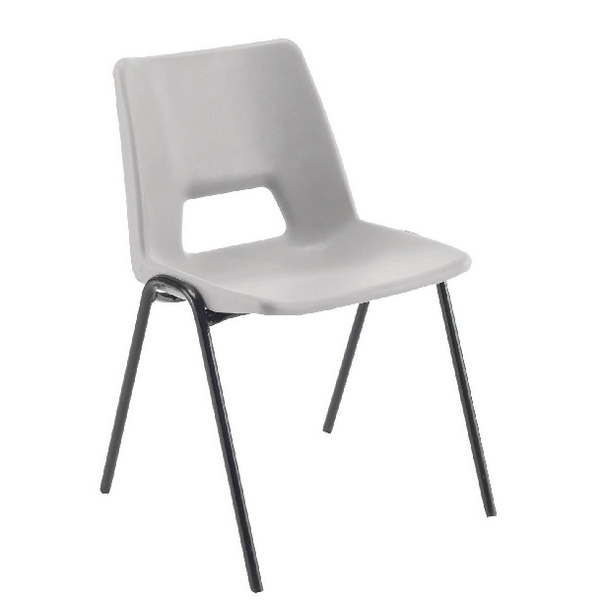 Image for Jemini Polypropylene Stacking Chair Grey