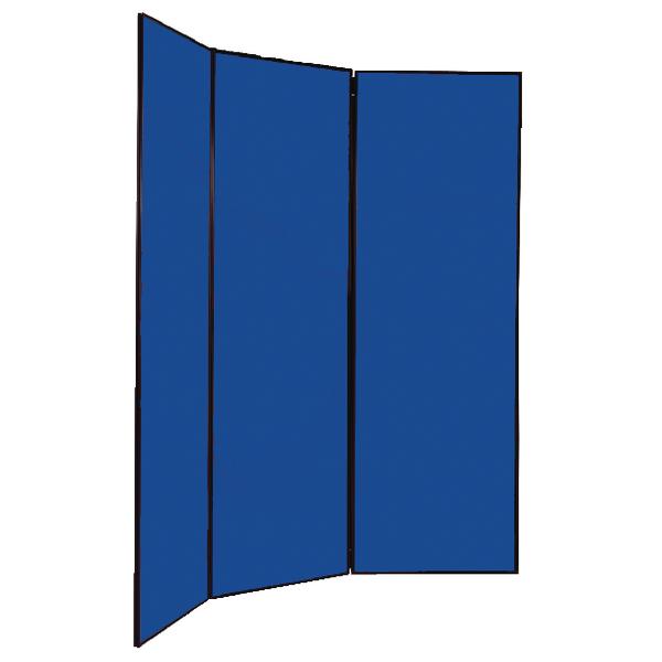 Q-Connect Multi-Fold Jumbo Display Screen Black Frame 2700x1800mm Blue FN2BLA6