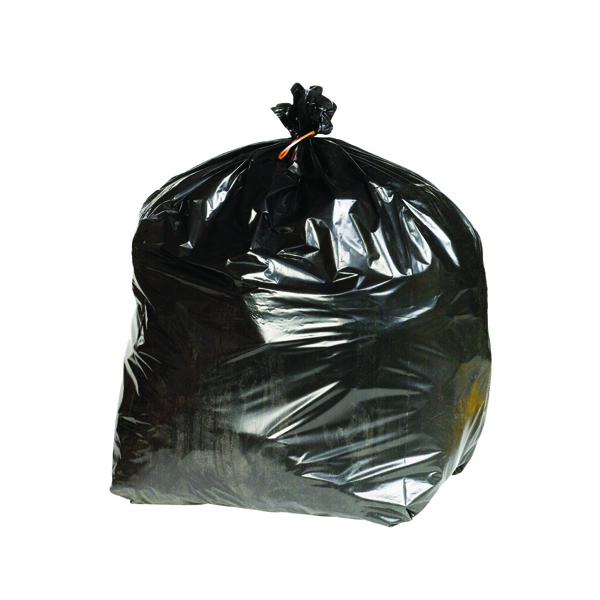 2Work Black Extra Heavy Duty Refuse Sacks 90 Litres (Pack of 200)