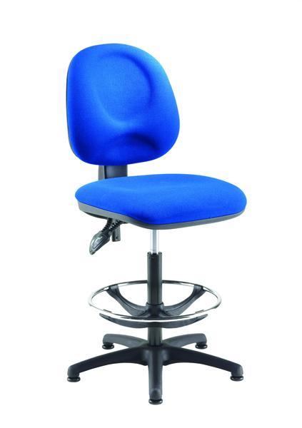 Arista Blue Adjustable Draughtsman Chair