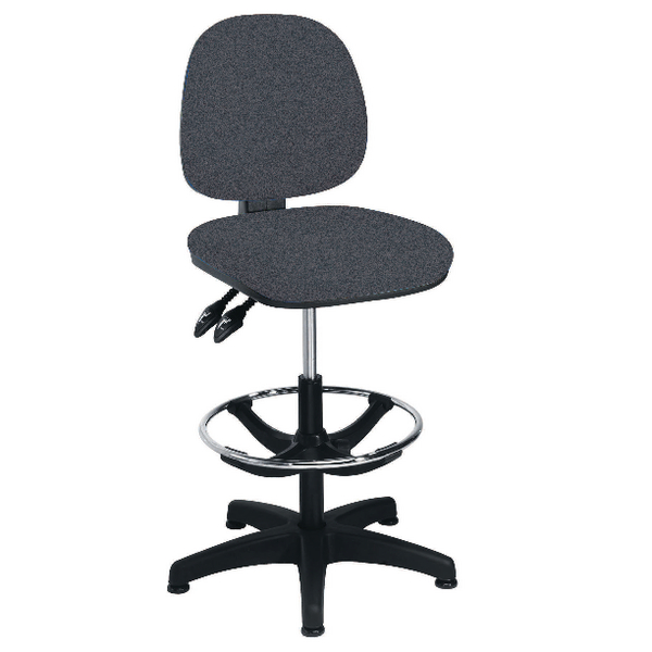 Arista Charcoal Adjustable Draughtsman Chair